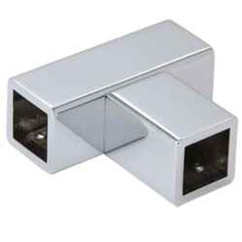 Chrome T Junction Bracket for Square Bar