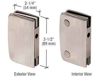 Brushed Nickel Glass Swinging Door Lock Receiver