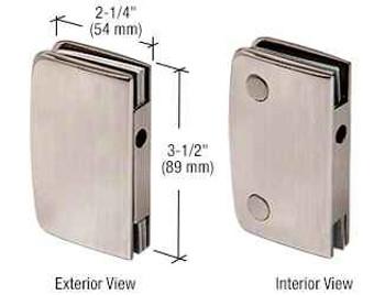 Brushed Nickel Glass Swinging Door Lock Receiver