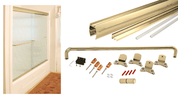Cottage CK Series Gold Anodized 60 x 72 Cottage CK Series Sliding Shower Door Kit With Clear Jambs for 10mm Glass