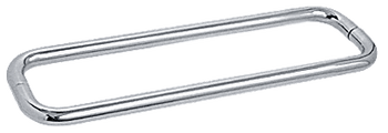 Chrome 18 Series Back-to-Back Towel Bar Without Metal Washers
