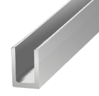 SDCD516BA Uchannel in Chrome for 8mm glass panels