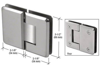 Brushed Stainless Steel Ultimate 180 Series 180 Degree Glass-to-Glass Hinge