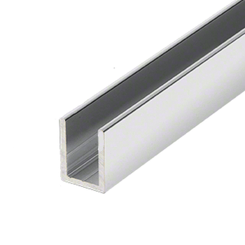 SDCD38BA  U Channel for 10mm shower glass panels and screens 2.41M length