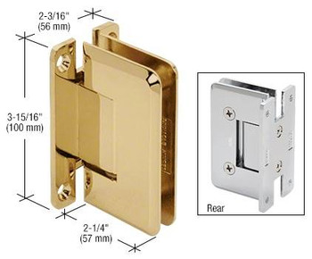 Cologne Cologne 037 Series Wall Mount Hinge Polished Brass