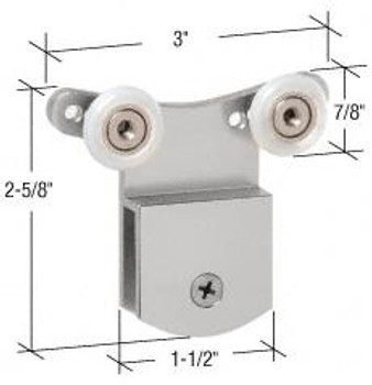 CRL CRL Brite Anodized 3/8 Top Hanger Bracket for CK/DK Cottage Series Sliders