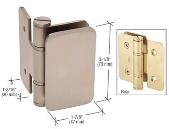 Zurich Zurich 03 Series Wall Mount In-swing Hinge - Brushed Nickel