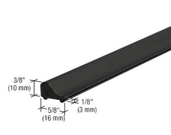 CRL Frameless Shower Door Tapered Threshold - Matte Black