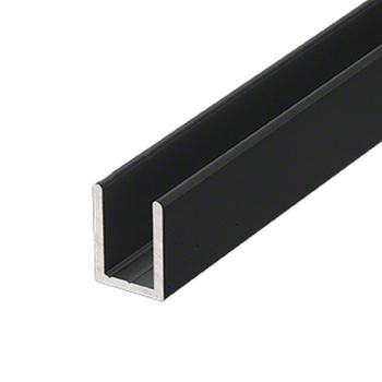 10mm Matt Black Uchannel for 10mm Glass SDCD38MBL