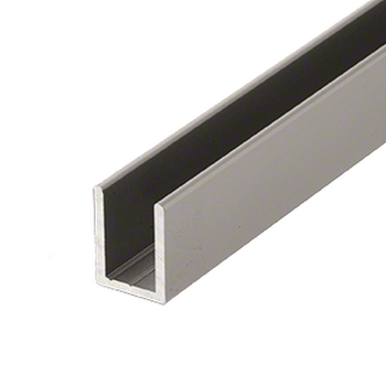 SDCD38SN 10mm Uchannel in Satin Nickle for glass panels and screens