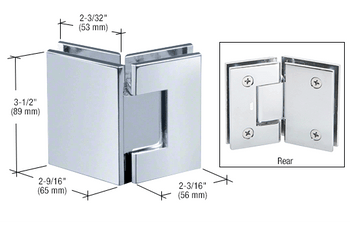 Geneva Chrome Geneva 045 Series 135 Degree Glass-to-Glass Hinge