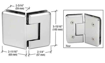Cologne Chrome Cologne 045 Series 135 Degree Glass-to-Glass Hinge