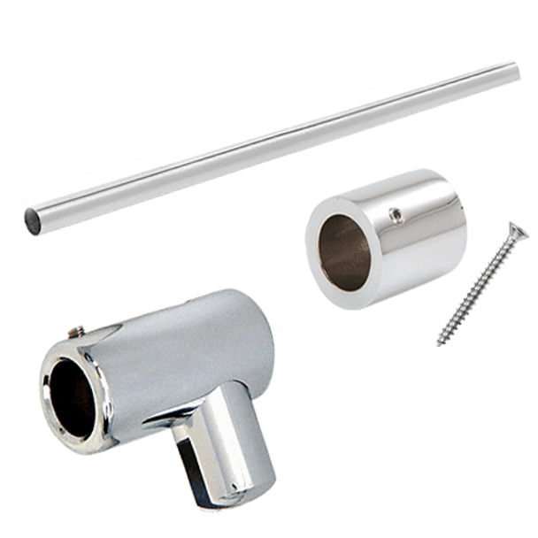 Wall to glass support arm for shower glass panels and enclosures 10mm
