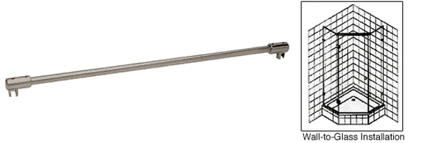 Brushed Nickel 1.2m Glass-To-Glass Support Bar for 10mm to 12mm Glass