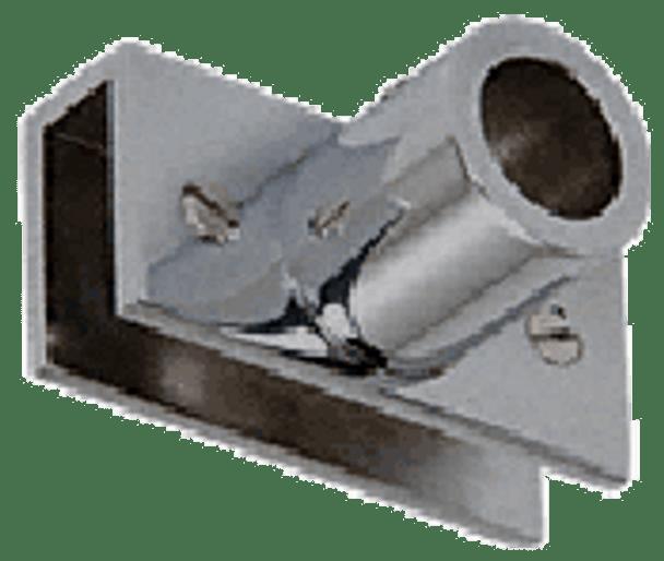 Brushed Nickel Adjustable Slim Line Glass Mount Fitting