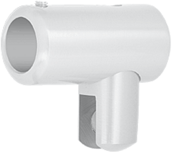 White Support Bar U-Bracket for 6mm and 8mm Glass