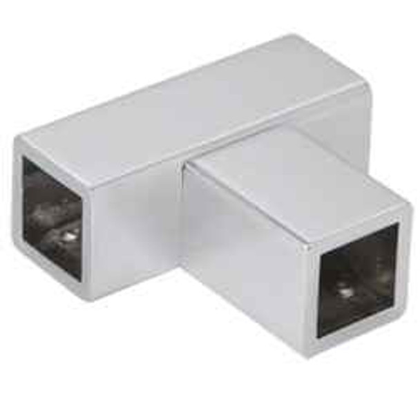 Satin Chrome T Junction Bracket for Square Bar