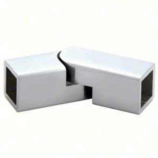 Chrome Adjustable Corner Bracket for Square Bar