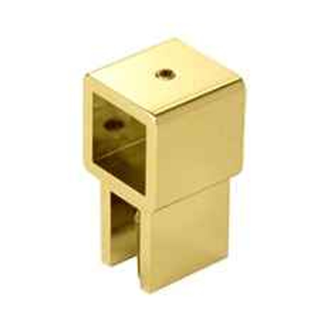 Brass Movable Bracket for 6mm to 8mm 6 to 8mm Glass - Square Bar