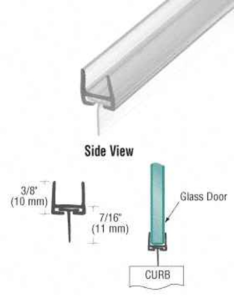 Polycarbonate Bottom Rail With Wipe for 8mm Glass
