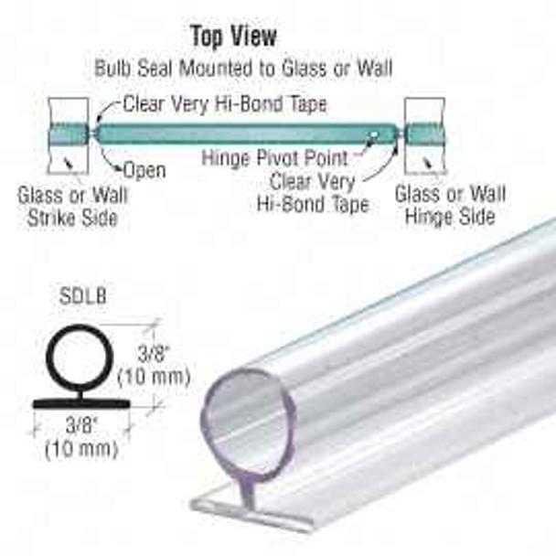 CRL Large Translucent Vinyl Bulb Seal - 2.49m