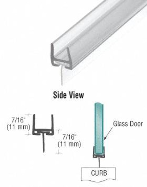 Polycarbonate Bottom Rail With Wipe for 10mm Glass