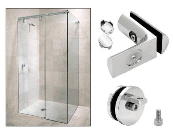 Hydroslide Sliding Door System - 90 Degree Wall to Glass Accessory Kit