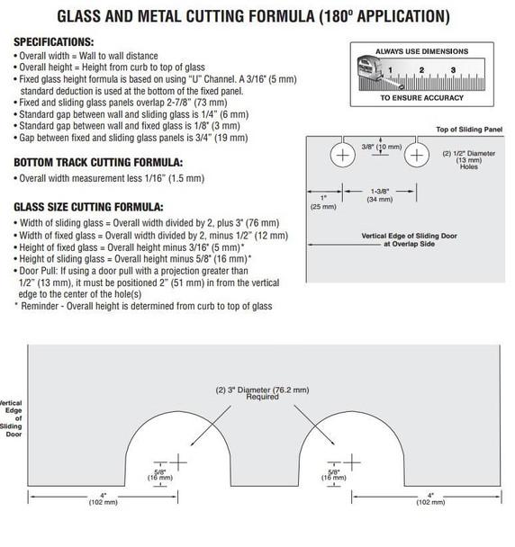 Essence Sliding Door Kit - Headerless - Square Styling