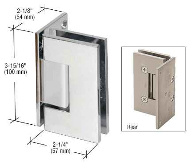 Vienna Vienna 044 Series Wall Mount Offset Back Plate Hinge -Chrome