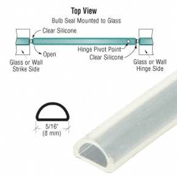 Translucent Silicone Bulb Seal for 5 mm Gap