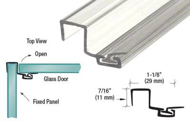 U Seal Polycarbonate Strike with Leg and Insert at 90 Degrees for 10mm Glass