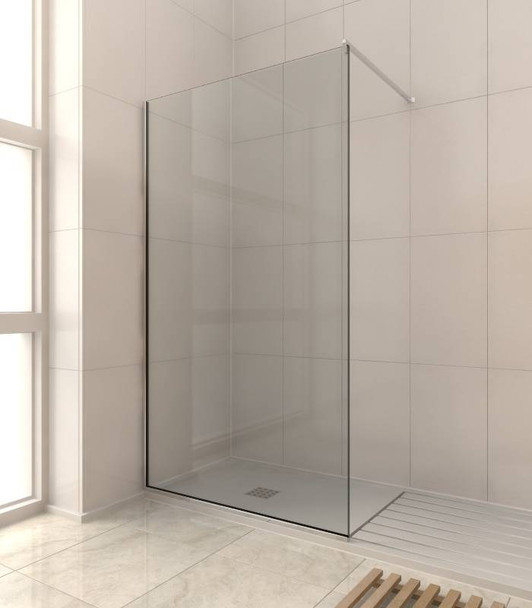 8mm Shower Glass Fixed Panel Kit 2000mm x 400mm