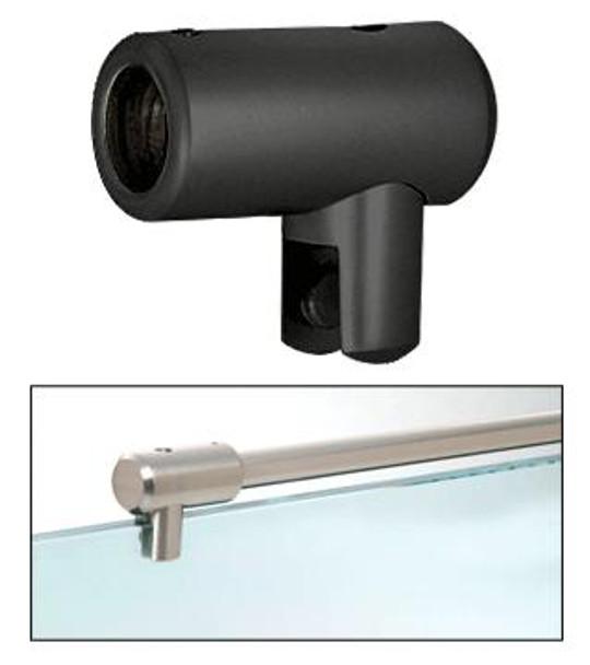 Matte Black Support Bar U-Bracket for 10mm and 12mm Glass
