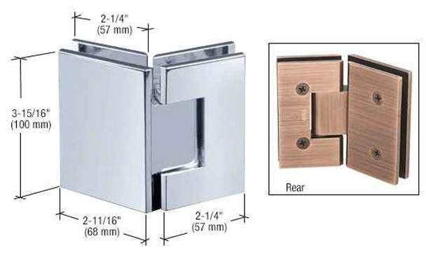 Vienna Chrome Vienna 045 Series 135 Degree Glass-to-Glass Hinge
