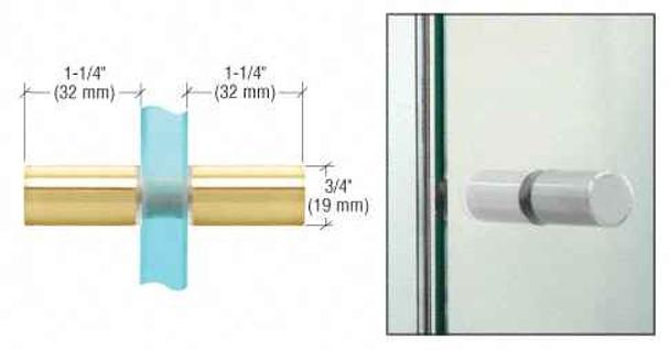 Brass Cylinder Style Back-to-Back Shower Door Knobs