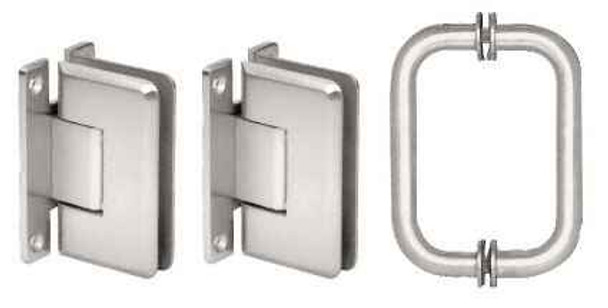 Cologne Chrome Cologne 037 Hinge and Shower Pull Handle Set