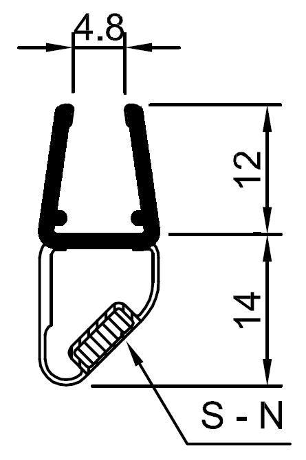pmb8-Magnetic seal for shower door enclosures