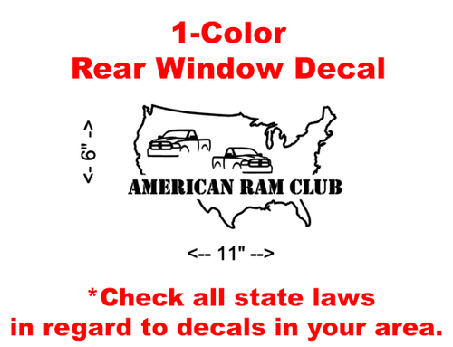 American Ram Club (ARC) Dual Truck Decal