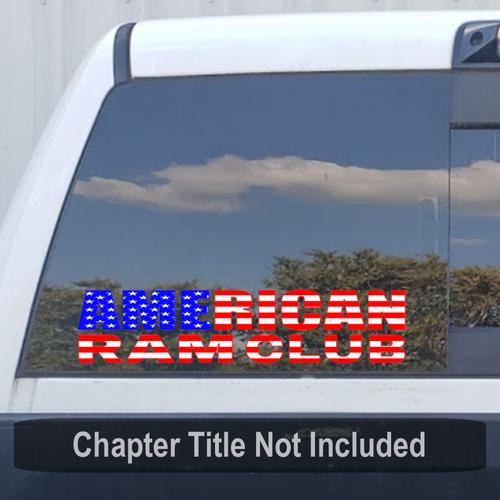 American Ram Club (ARC) RWB Flag Large Reflective