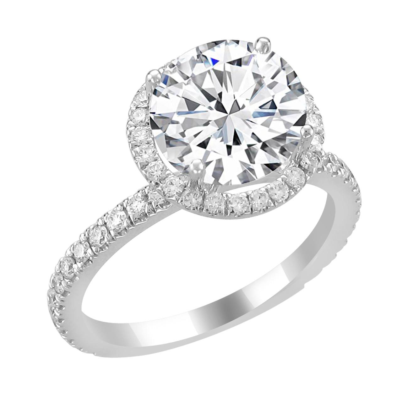 14k White Gold Diamond Ring Wedding Bands Company Chicago
