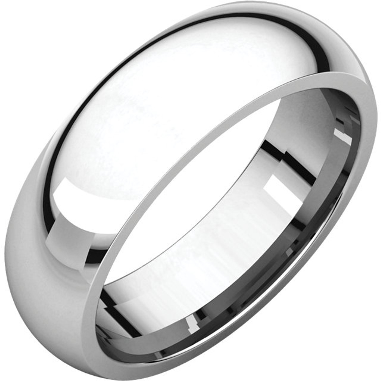 Comfort Fit Style Wedding Band With A High Polish Finish In A 6mm