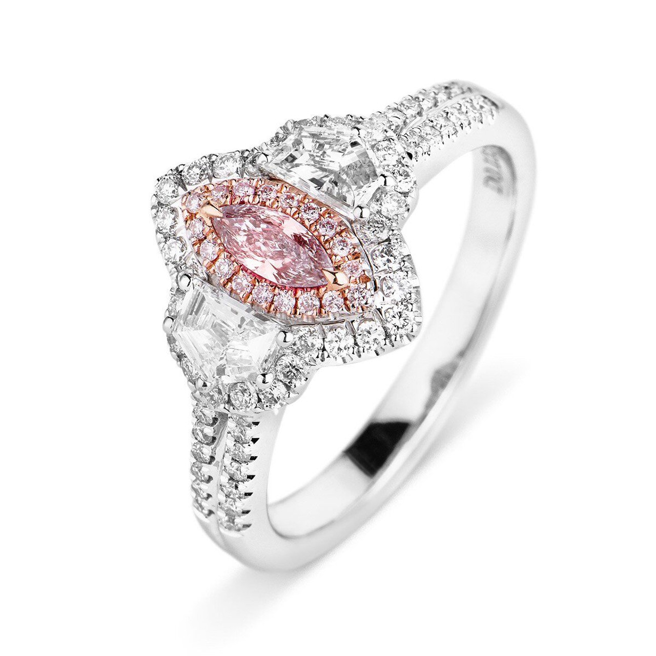 Marquise Halo Fashion Rings Wedding Bands Co Chicago