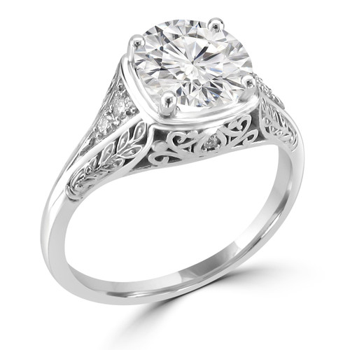 Vintage Inspired Engagement Ring - Leva Style