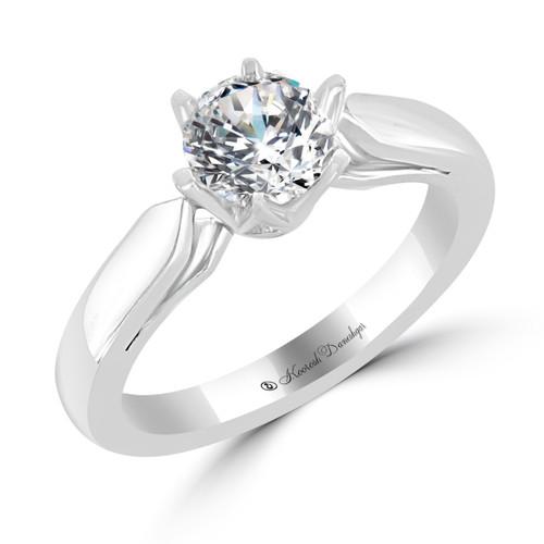 Platinum Solitaire Engagement Ring - Gemma Style