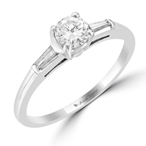Platinum Pre-Set Engagement Ring - Rosa Style