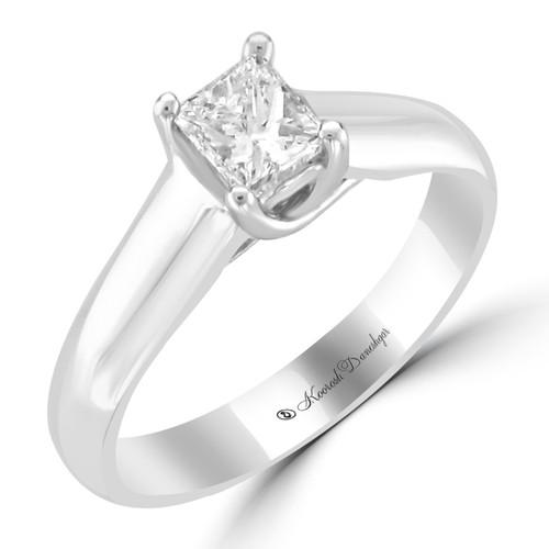 14K White Gold Pre-Set Engagement Ring - Teresa Style