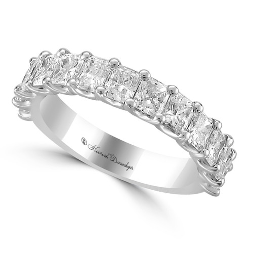 emerald cut, square shape, cropped corners, personal preference, cut quality, White Gold, prong set, Diamond Wedding Band, Chicago, jewelers row ,radiant cut diamond, White Gold Prong Set Radiant Cut Diamond, custom creation, precious metal,platinum