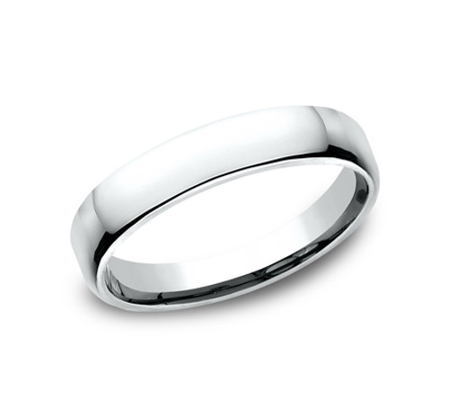 Euro-Comfort-Fit Wedding Band with a High Polish Finish in a 4.5mm Width