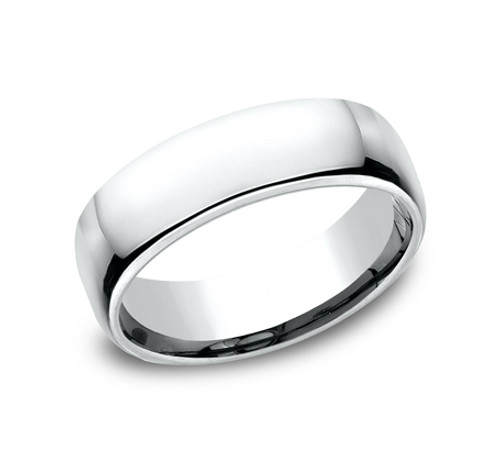 Euro Comfort Fit Wedding Band With A High Polish Finish In A 6 5mm