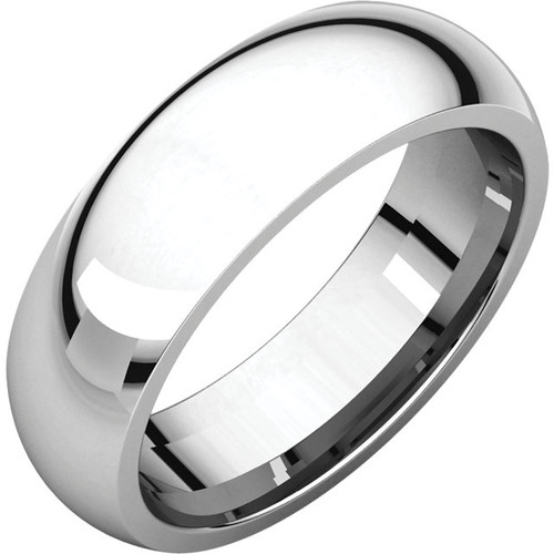 Comfort-Fit Style Wedding Band with a High Polish Finish in a 6mm Width